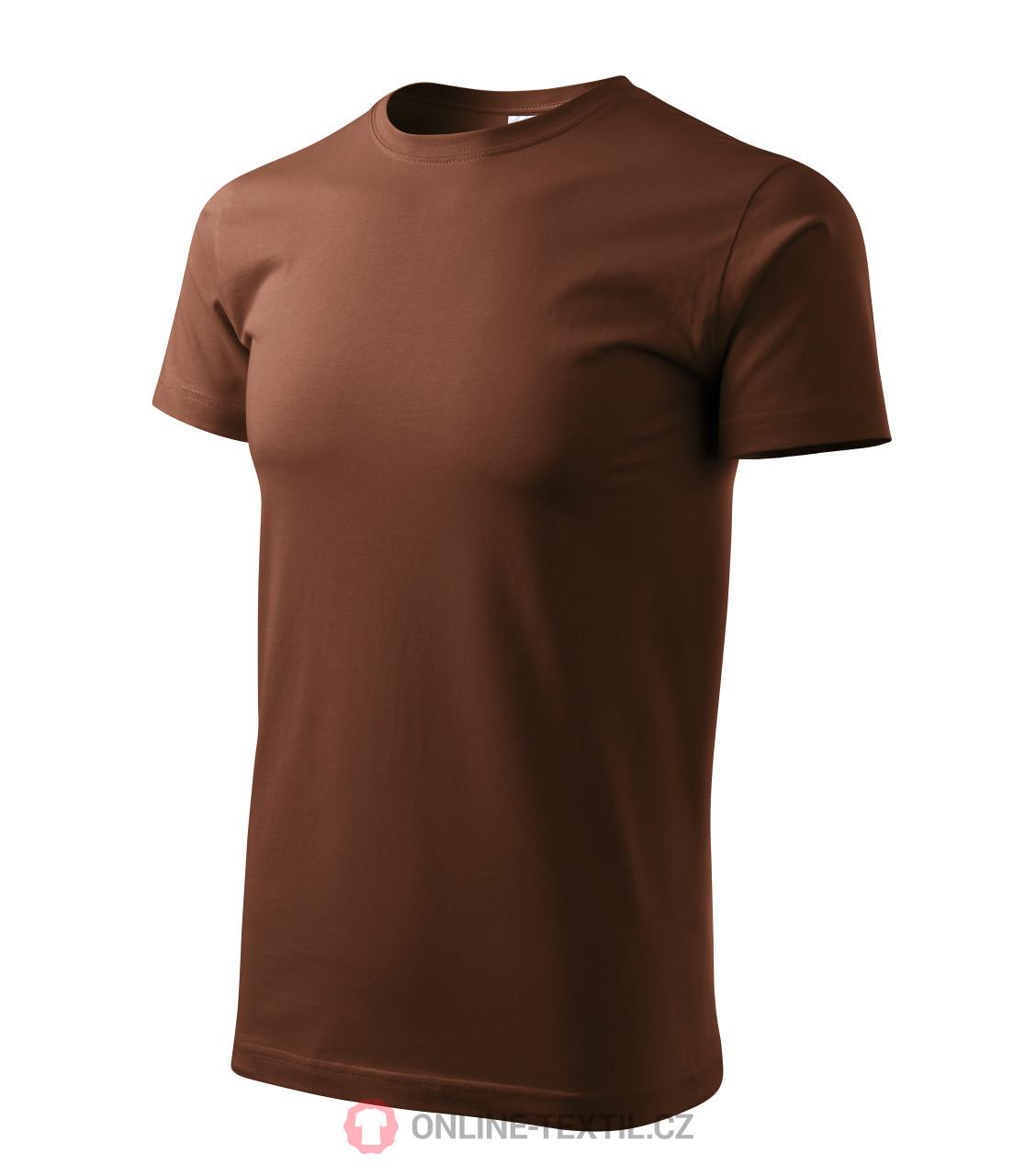 ADLER CZECH Tričko Heavy New vyšší gramáže 137 - čokoládová z ... 23dd87420b