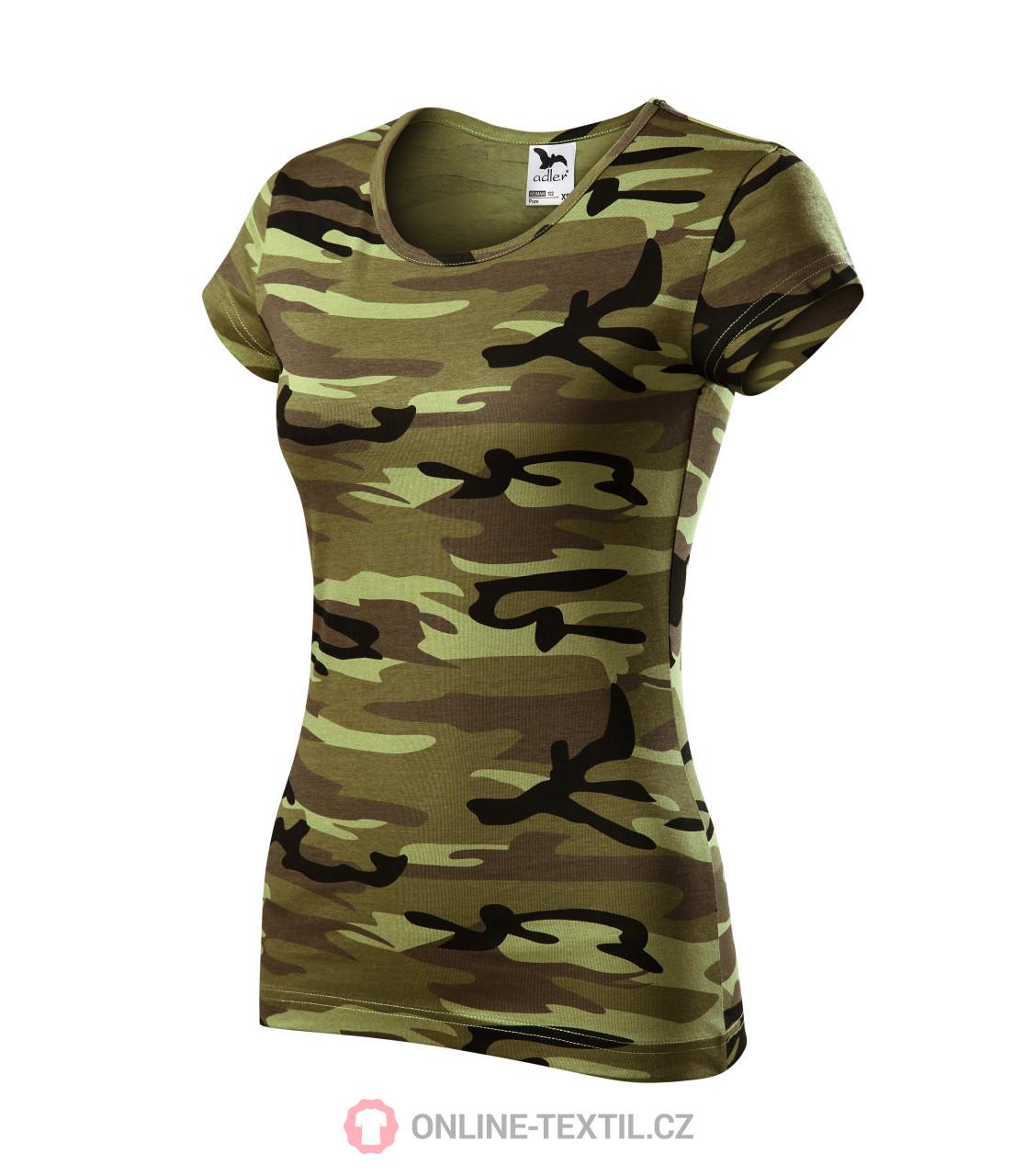 87cb173aa12 ADLER CZECH Pure tričko dámské A22 - camouflage green z kolekce ...