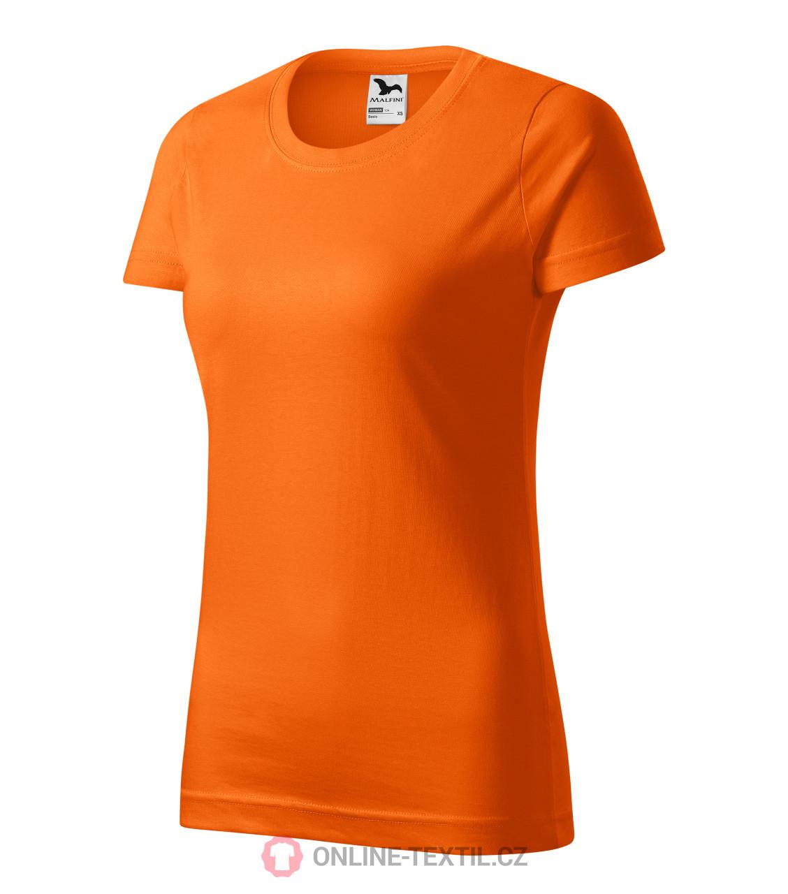 dbfc215e4fb ADLER CZECH Tričko dámské Basic 134 - oranžová z kolekce MALFINI ...