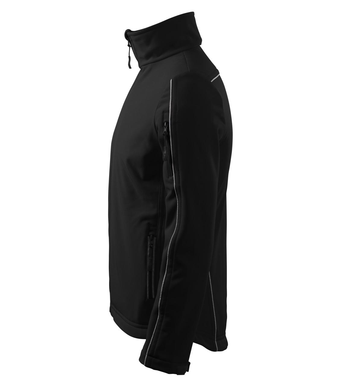 Pánská softshellová bunda Softshell Jacket s reflexními proužky ADLER CZECH černá L
