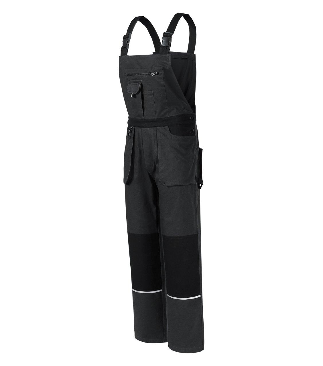 Woody pracovní kalhoty s laclem pánské Rimeck ADLER CZECH ebony gray M